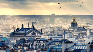 The Paris skyline from Montmarte