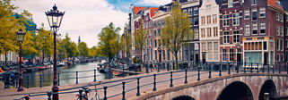 The canals of Amsterdam